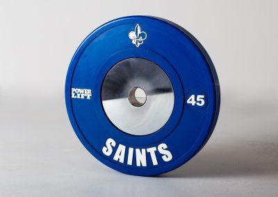 custom weights saints